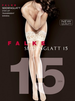 Чулки Falke Seidenglatt 15 stay-up art. 41590