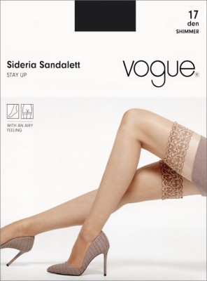 Чулки Vogue Sideria Sandalett Stay Up 17