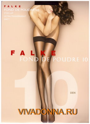 Чулки Falke Fond De Poudre 10 stay-up art. 41523