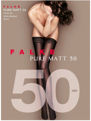Чулки Falke Pure Matt 50 stay-up art. 41551